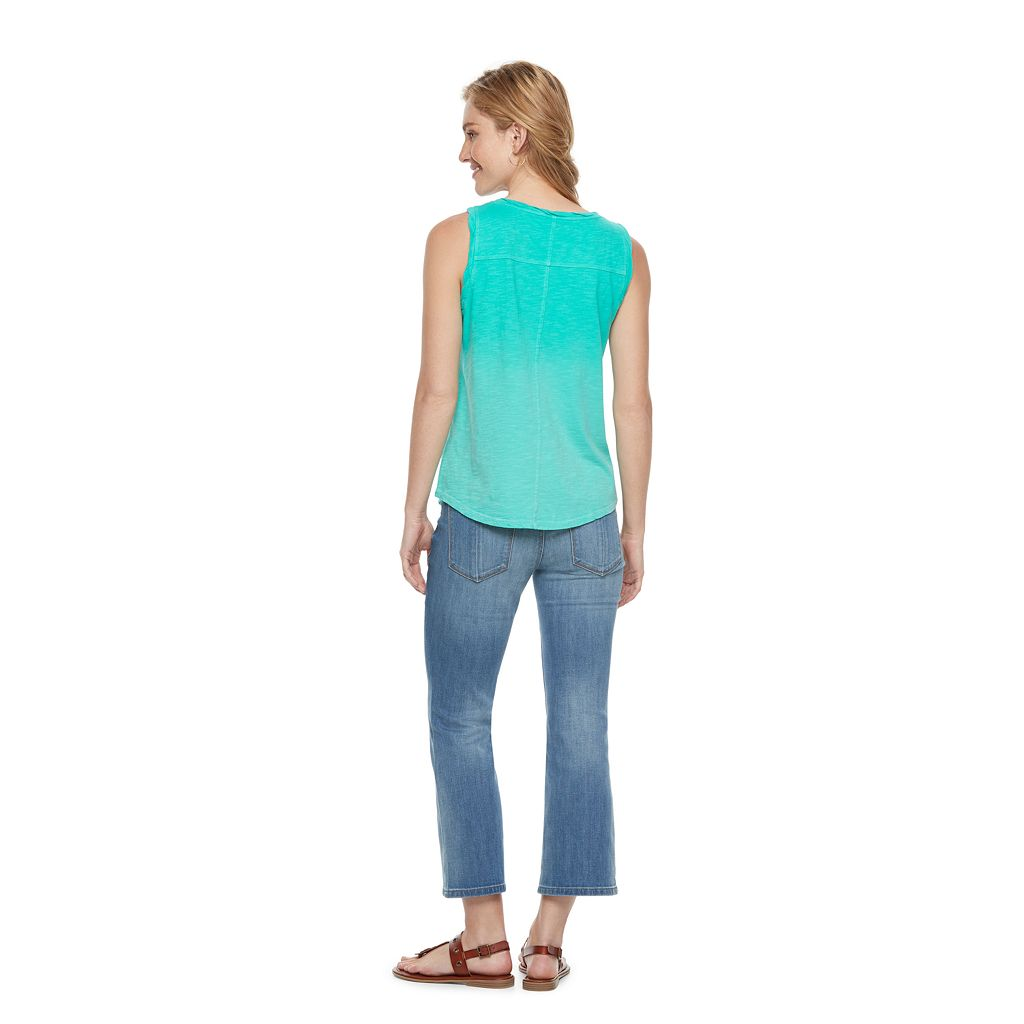 Women's SONOMA Goods for Life™ Twist Henley Tank