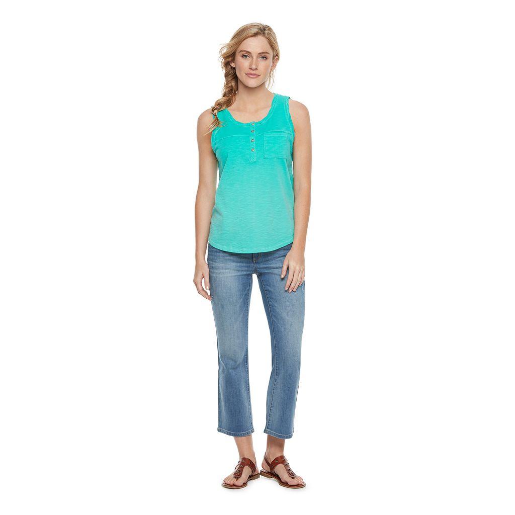 Women's SONOMA Goods for Life™ Twist Henley Tank