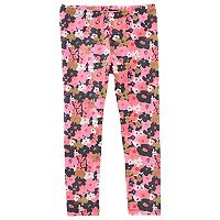 Baby Girl OshKosh B'gosh® Floral Print Glitter Leggings
