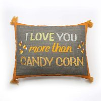 Celebrate Halloween Together Love You More Than Candy Corn Throw Pillow