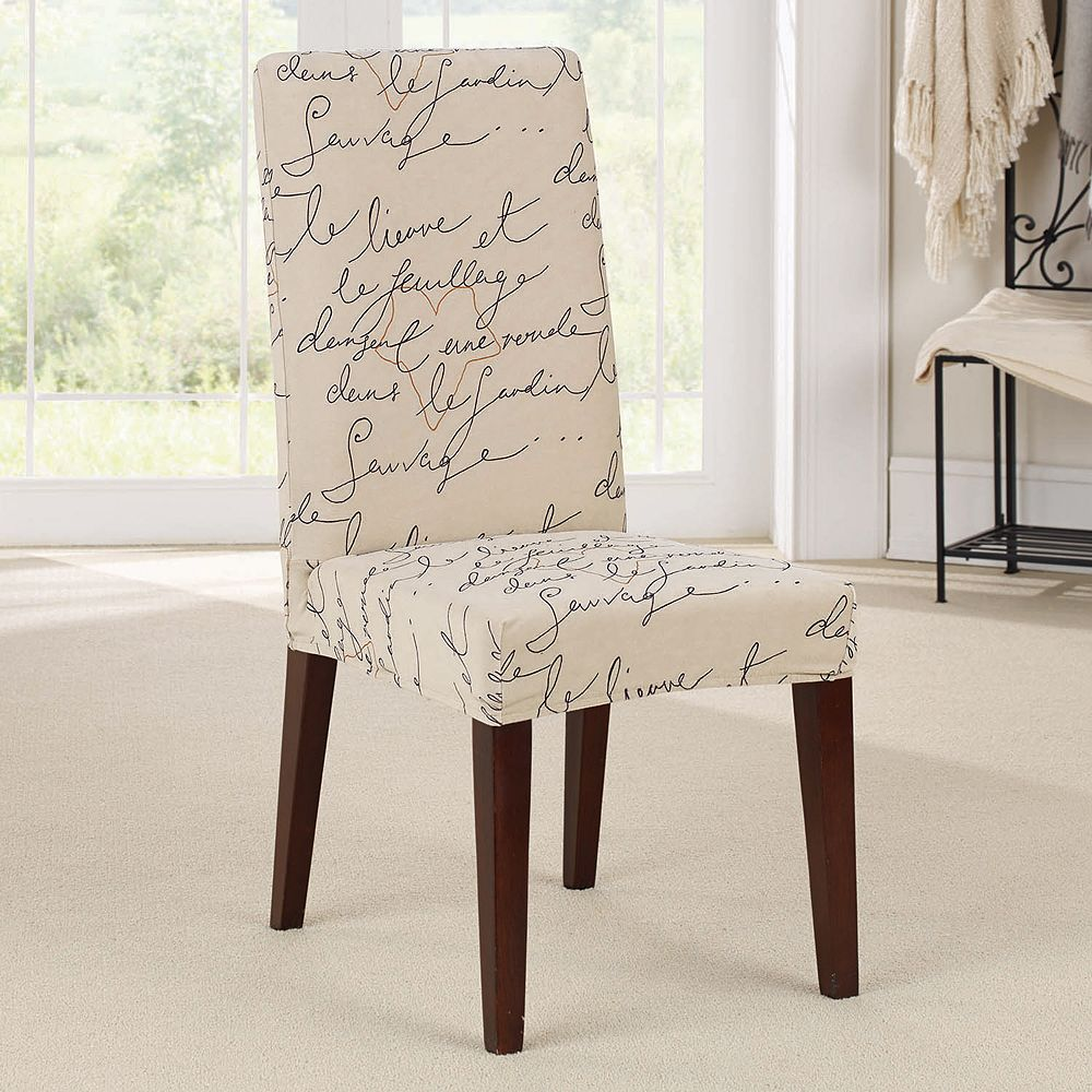 Sure Fit Waverly Stretch Pen Pal Short Dining Room Chair Slipcover