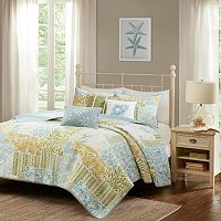 Madison Park 6-piece Stone Harbor Coverlet Set
