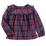 Baby Girl OshKosh B'gosh® Ruffle Plaid Top