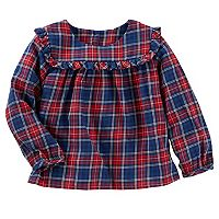 Baby Girl OshKosh B'gosh® Ruffle Plaid Top