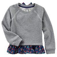 Toddler Girl OshKosh B'gosh® Long Sleeve Terry Peplum Tunic