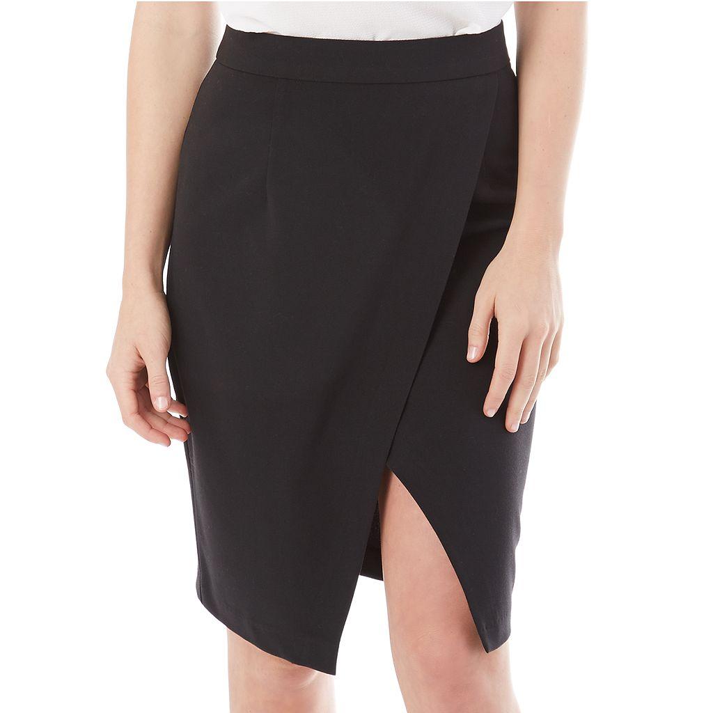 Juniors' IZ Byer California Cross Front Skirt