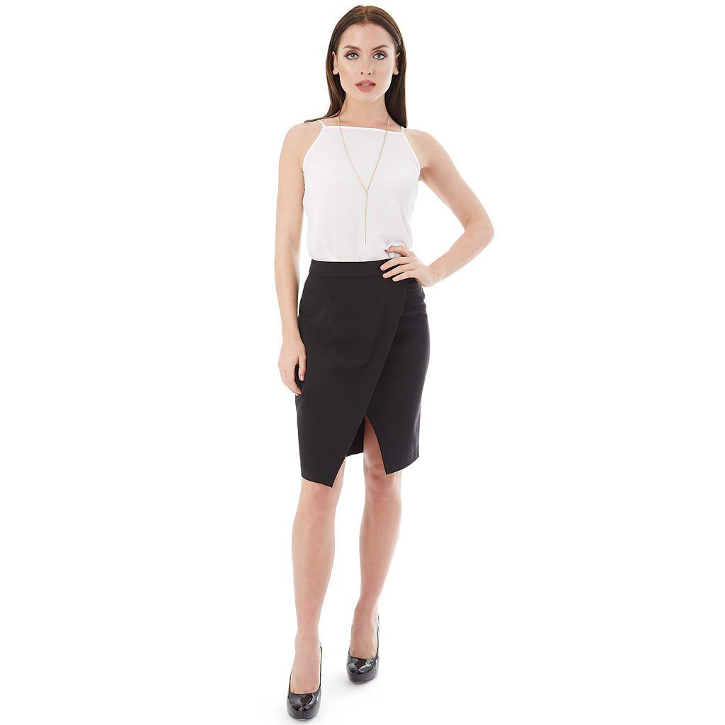 Juniors' IZ Byer Cross Front Skirt