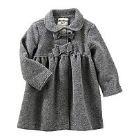 Toddler Girl OshKosh B'gosh® Flannel Bow Coat