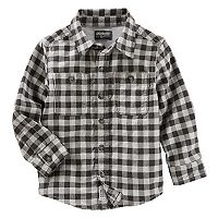 Toddler Boy OshKosh B'gosh® Plaid Button-Front Flannel Shirt