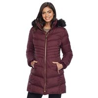 Women's Apt. 9® Hooded Faux-Fur Trim Jacket