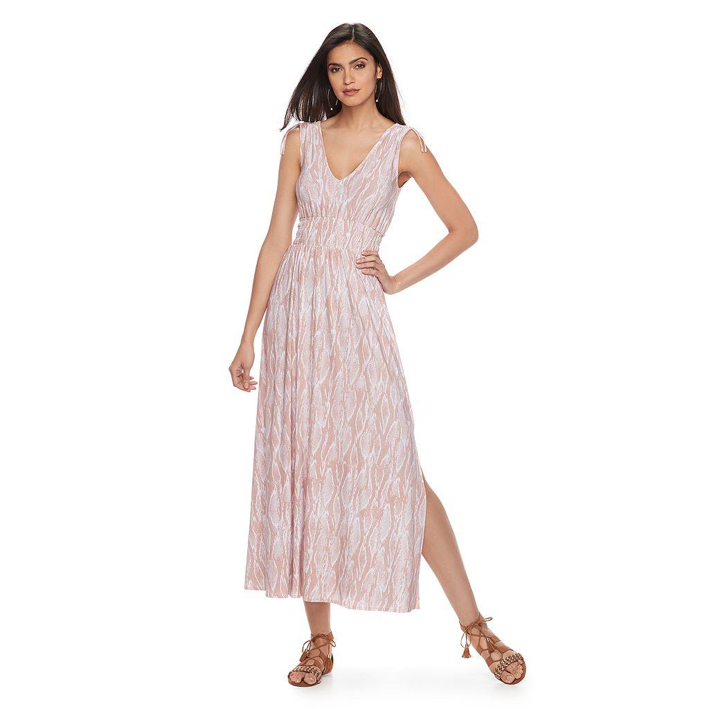 Women's Jennifer Lopez Smocked Waist Maxi Dress