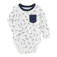 Baby Boy OshKosh B'gosh® Paper Airplanes Pocket Bodysuit