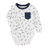 Baby Boy OshKosh B'gosh® Paper Airplanes Pocket Bodysuit