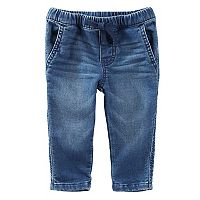Baby Boy OshKosh B'gosh® Pull-On Knit Denim Pants