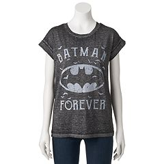 Juniors' DC Comics Batman Burnout Graphic Tee