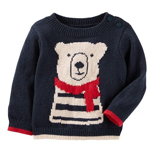 Baby Boy OshKosh B'gosh® Cozy Bear Knit Sweater