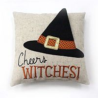 Celebrate Halloween Together Cheers Witches Mini Throw Pillow