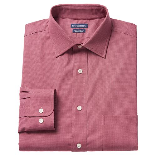 Men's Croft & Barrow® True Comfort Classic-Fit Oxford Stretch Dress Shirt