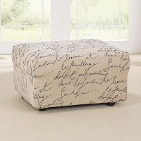 Sure Fit Waverly Stretch Pen Pal Ottoman Slipcover