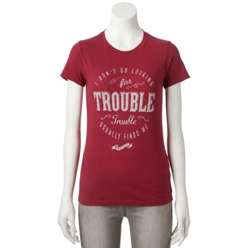 """Juniors' Harry Potter """"Looking For Trouble"""" Graphic Tee"""