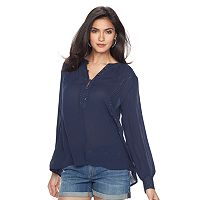 Women's Jennifer Lopez Embellished Henley Top