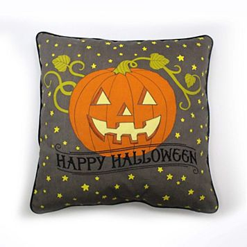 Celebrate Halloween Together Happy Halloween Pumpkin Throw Pillow