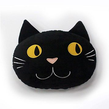 Celebrate Halloween Together Cat Head Mini Pillow