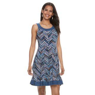 Women's Bethany Chevron A-Line Dress