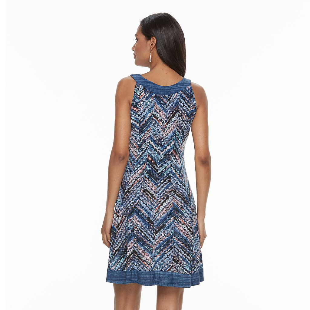 Women's Bethany Chevron A-Line Dress
