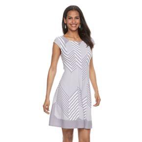 Women's Bethany Chevron Fit & Flare Dress