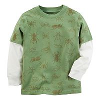 Baby Boy Carter's Bug Print Mock-Layered Tee