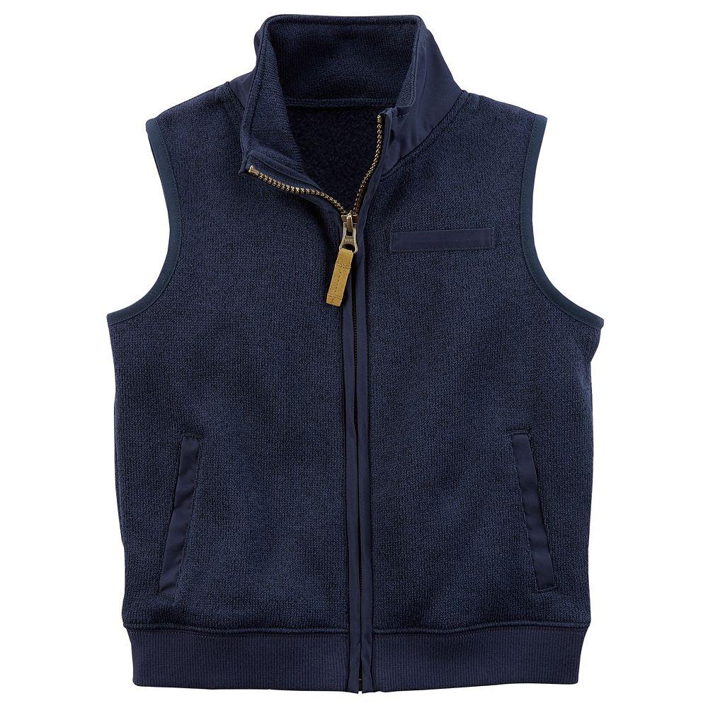Boy Carter's Zip Sweater Vest