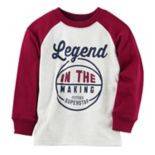 "Baby Boy Carter's ""Legend In The Making"" Basketball Raglan Tee"