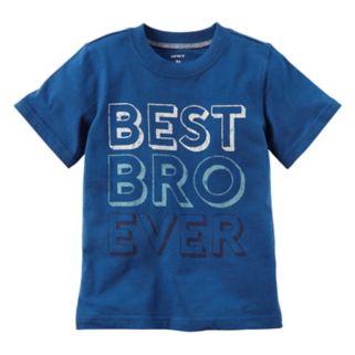 """Baby Boy Carter's Short Sleeve """"Best Bro Ever"""" Graphic Tee"""