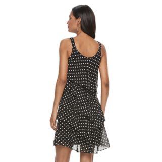 Women's Bethany Tiered Polka-Dot Shift Dress