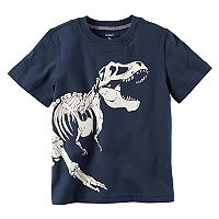 Baby Boy Carter's Dinosaur Skelton Glow-in-the-Dark Graphic Tee