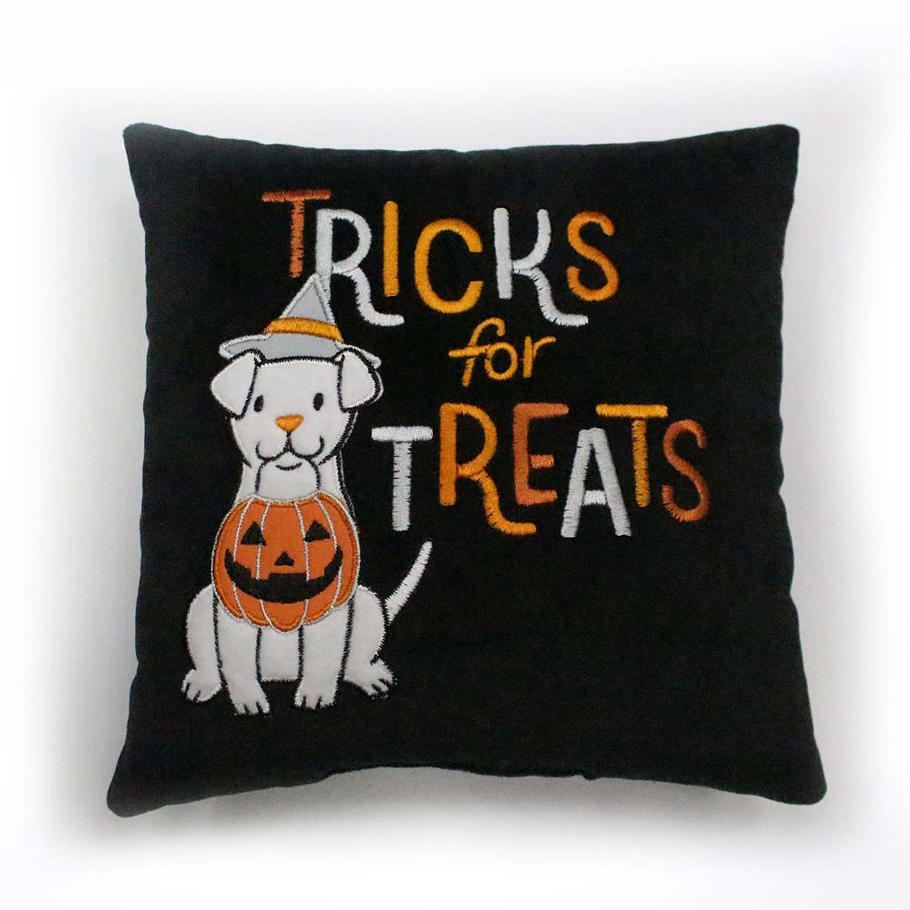 Celebrate Halloween Together Tricks For Treats Dog Mini Pillow