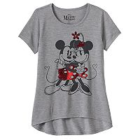 Disney's Mickey Mouse & Minnie Mouse Girls 7-16 Dancing Foil Graphic Tee