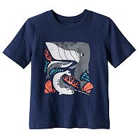 Toddler Boy Jumping Beans® Short Sleeve Whale, Shark & Narwhal Slubbed Graphic Tee