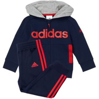 Baby Boy adidas Logo Hooded Jacket & Pants Set