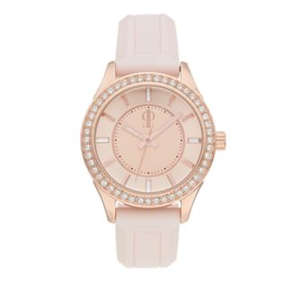 Jennifer Lopez Women's Crystal Silicone Watch