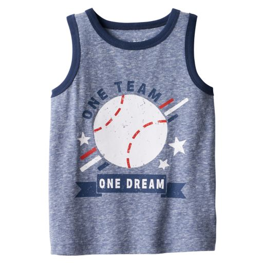 "Baby Boy Jumping Beans® ""One Team One Dream"" Baseball Snow Nep Tank Top"