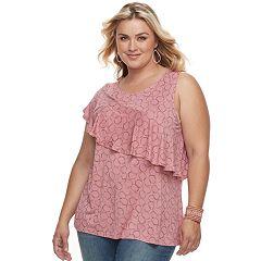 Womens Pink Apt Tank Tops Tops Tees Tops Clothing Kohl S