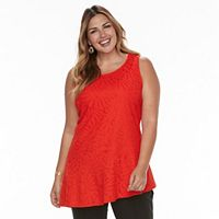 Plus Size Dana Buchman Asymmetrical Peplum Top