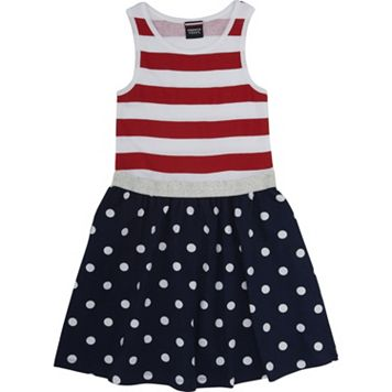 Girls 4-6x French Toast Americana Fit & Flare Dress