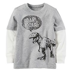 Baby Boy Carter's Dinosaur 'Roar' Mock-Layer Graphic Tee