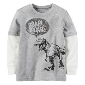 "Baby Boy Carter's Dinosaur ""Roar"" Mock-Layer Graphic Tee"