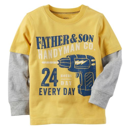 """Baby Boy Carter's """"Father & Son Handyman Co."""" Mock-Layer Graphic Tee"""