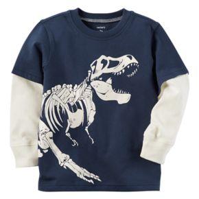 Baby Boy Carter's Glow-in-the-Dark Dinosaur Mock-Layer Tee