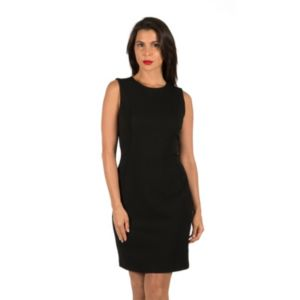 Women's Harve Benard Solid Crepe Sheath Dress